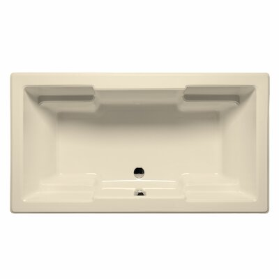 Laguna 60 x 42 Whirlpool and Air Jet Bathtub Color: Biscuit