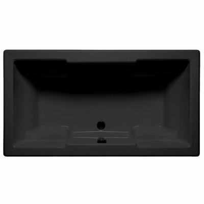 Laguna 66 x 42 Air/Whirlpool Bathtub Color: Black