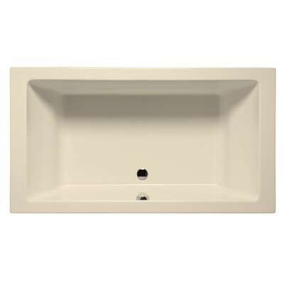 Naples 66 x 42 Whirlpool and Air Jet Bathtub Color: Biscuit