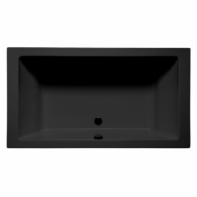 Naples 72 x 36 Whirlpool and Air Jet Bathtub Color: Black