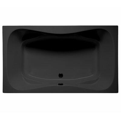 Oceanside 72 x 42 Air Jet Bathtub Color: Black