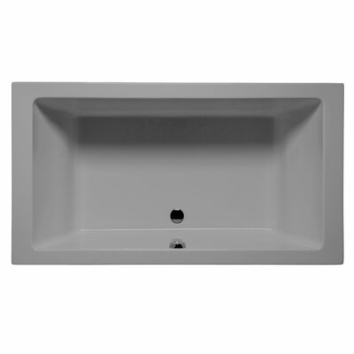 Naples 66 x 42 Whirlpool and Air Jet Bathtub Color: Sterling Silver