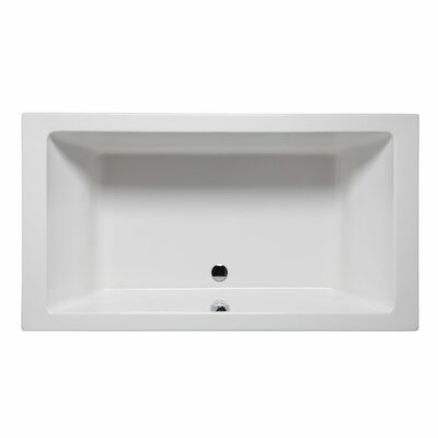 Naples 66 x 42 Soaking Bathtub Color: White