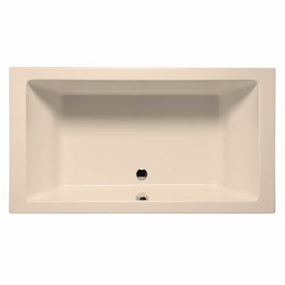 Naples 66 x 42 Whirlpool and Air Jet Bathtub Color: Almond
