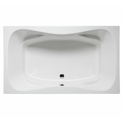 Oceanside 72 x 42 Air Jet Bathtub Color: White