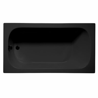 Sanibel 72 x 36 Soaking Bathtub Color: Black