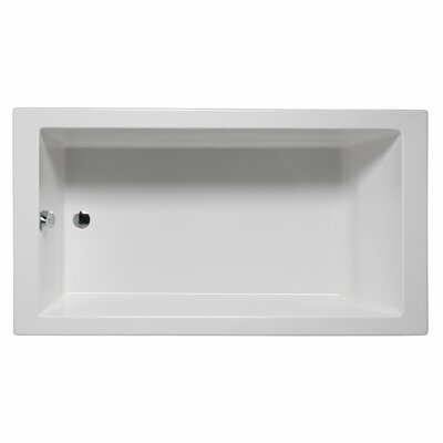 Venice 72 x 32 Soaking Bathtub Color: White