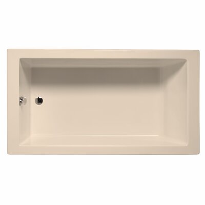 Venice 72 x 36 Soaking Bathtub Color: Almond