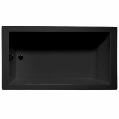 Venice 72 x 36 Soaking Bathtub Color: Black