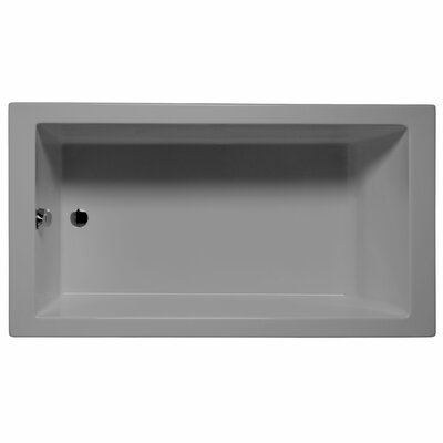 Venice 72 x 36 Soaking Bathtub Color: Sterling Silver