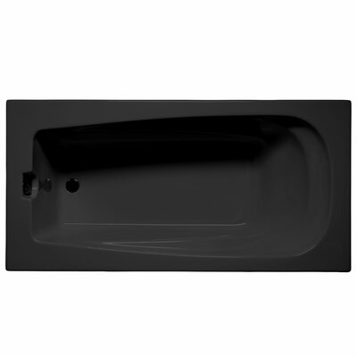 Fairfield 60 x 32 Whirlpool and Air Jet Bathtub Color: Black