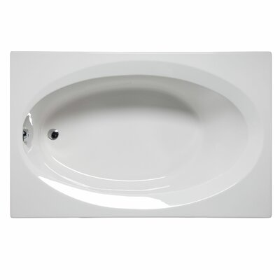 Delray 72 x 42 Air/Whirlpool Bathtub Color: White