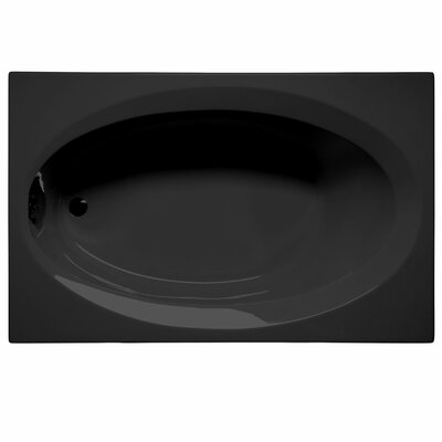 Delray 72 x 42 Soaking Bathtub Color: Black