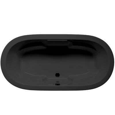 Hermosa 72 x 36 Soaking Bathtub Color: Black