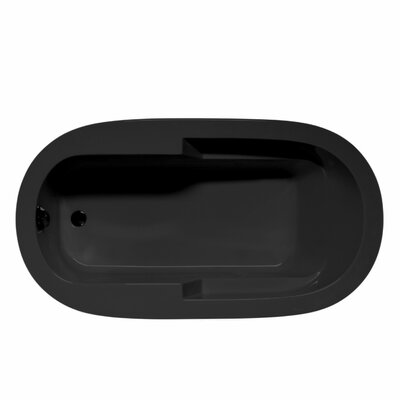 Marco 72 x 36 Soaking Bathtub Color: Black