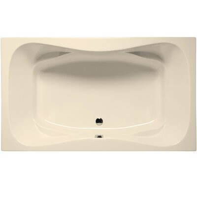 Oceanside 72 x 42 Soaking Bathtub Color: Biscuit