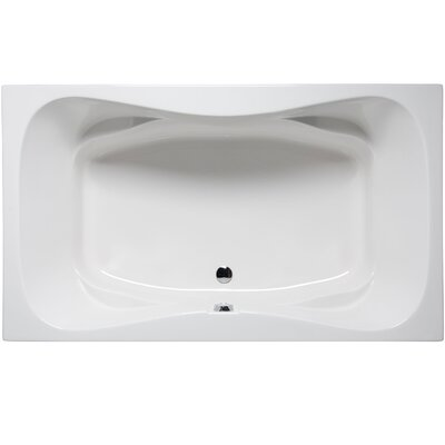 Oceanside 72 x 42 Soaking Bathtub Color: White