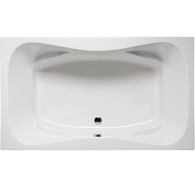 Oceanside 72 x 42 Air/Whirlpool Color: White