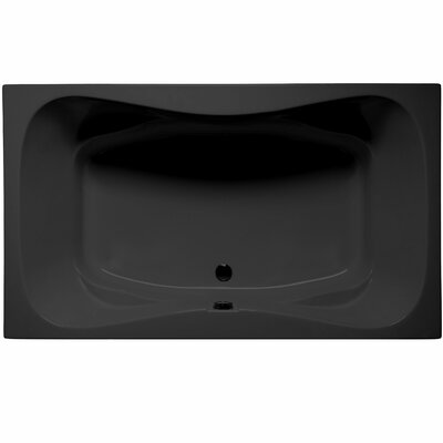Oceanside 72 x 42 Air/Whirlpool Color: Black