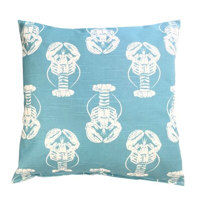 Coastal Lobster Throw Pillow