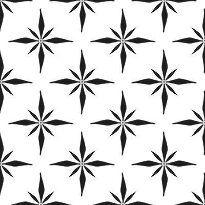 Nautical Compass Fabric Color: Black Line