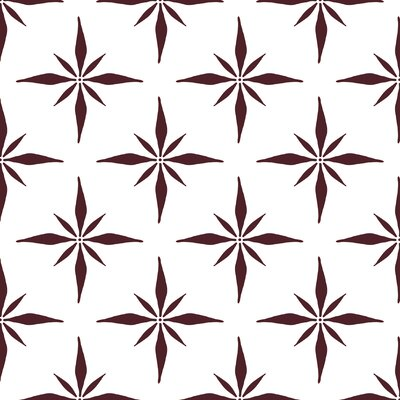 Nautical Compass Fabric Color: Maroon