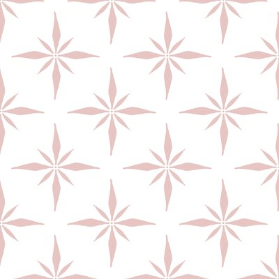 Nautical Compass Fabric Color: Pink