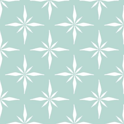 Nautical Compass Fabric Color: Light Blue