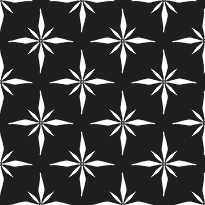 Nautical Compass Fabric Color: Black