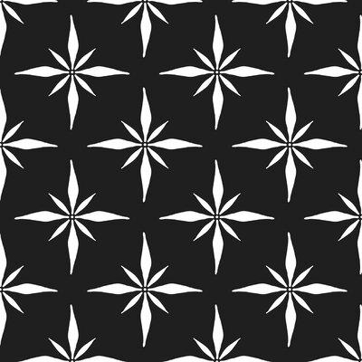 Nautical Compass Fabric Color: Black