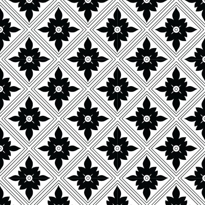 Kaleidoscope Fabric by the Yard Color: Black Line