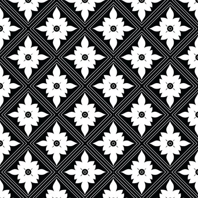 Kaleidoscope Fabric by the Yard Color: Black
