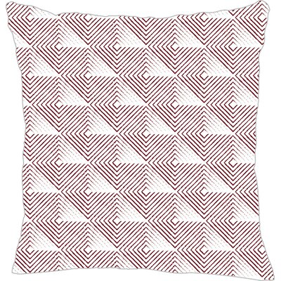 Origami Throw Pillow Size: 16 H x 16 W x 5 D, Color: Maroon