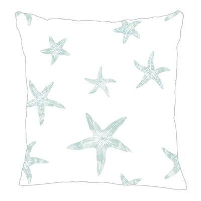 Starfish Throw Pillow Size: 20 H x 20 W x 5 D, Color: Pale Blue