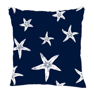 Starfish Throw Pillow Size: 18 H x 18 W x 5 D, Color: Navy