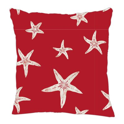 Starfish Throw Pillow Color: Red Sand, Size: 18
