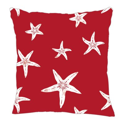 Starfish Throw Pillow Size: 18 H x 18 W x 5 D, Color: Red