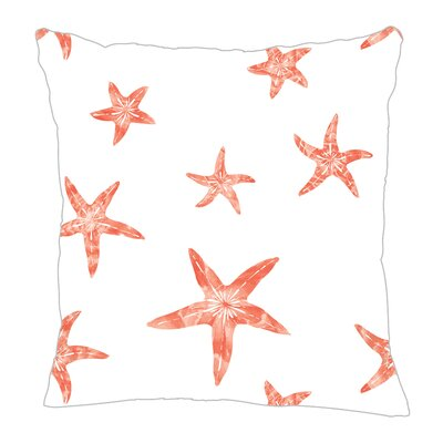 Starfish Throw Pillow Size: 16 H x 16 W x 5 D, Color: Coral