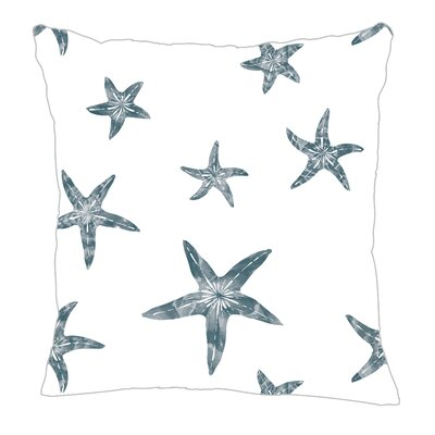 Starfish Throw Pillow Color: Teal, Size: 18 H x 18 W x 5 D