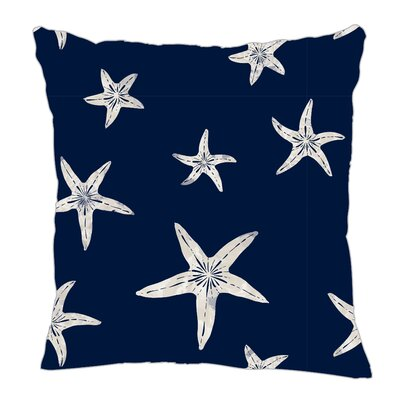 Starfish Throw Pillow Color: Navy Sand, Size: 20 H x 20 W x 5 D