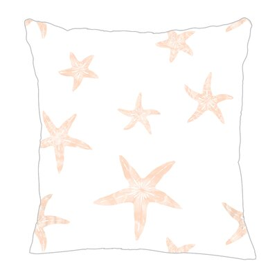 Starfish Throw Pillow Color: Peach, Size: 18