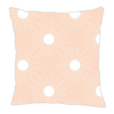 Sun Throw Pillow Size: 16 H x 16 W x 5 D, Color: Peach/White