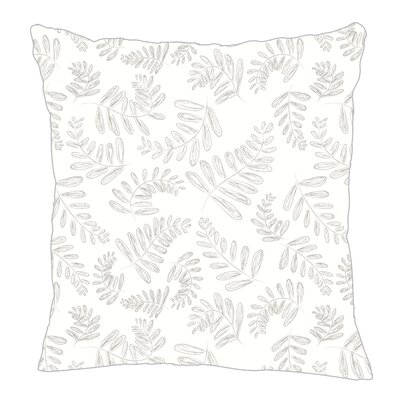 Fern Throw Pillow Size: 20 H x 20 W x 5 D, Color: Gray