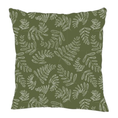 Fern Throw Pillow Size: 16 H x 16 W x 5 D, Color: Dark Green