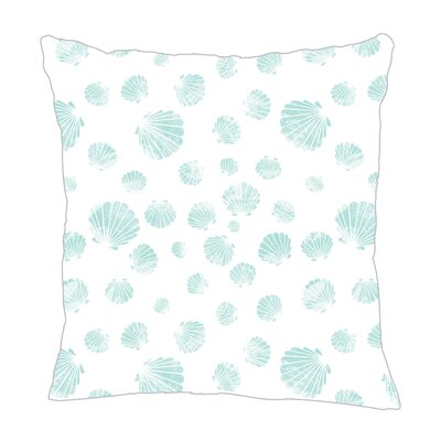 Seashell Throw Pillow Size: 16 H x 16 W x 5 D, Color: Light Blue