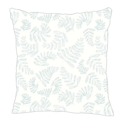 Fern Throw Pillow Size: 20 H x 20 W x 5 D, Color: Light Blue