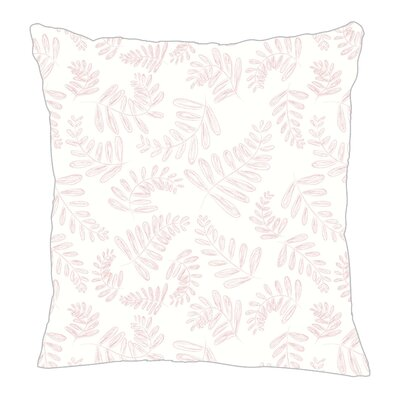 Fern Throw Pillow Size: 16 H x 16 W x 5 D, Color: Pink