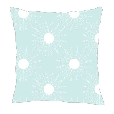Sun Throw Pillow Size: 16 H x 16 W x 5 D, Color: Light Blue/White