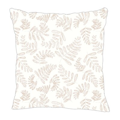 Fern Throw Pillow Size: 16 H x 16 W x 5 D, Color: Light Brown