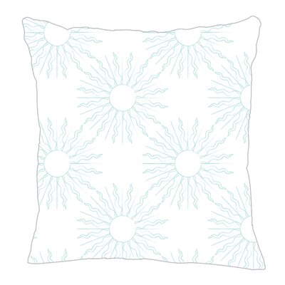 Sun Throw Pillow Size: 18 H x 18 W x 5 D, Color: Light Blue